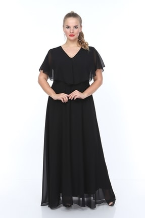 ANGELINO Kadın V Yaka Şifon Elbise