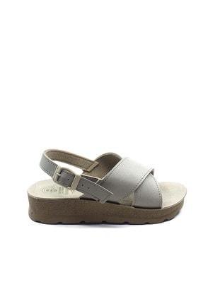 Gezer Kadın Krem Ortopedik Günlük Sandalet 0022