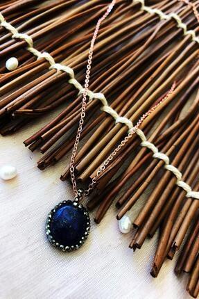 DR Stone Dr Stone Doğaltaş El Yapımı Altın Kaplama Afrika Koleksiyonu Kadın Lapis Lazuli Taşı Kolye Xktdr14