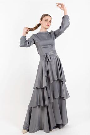 Puane Kadın Elbise Gri -pn12144