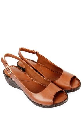 GÖN Gön Hakiki Deri Kadın Sandalet 45422