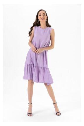 Tiffany A0263 Keten Salaş Elbise