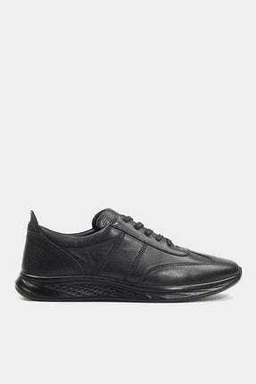 Hotiç Hakiki Deri Sıyah Erkek Sneaker 02AYH181400A100