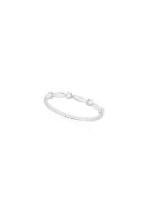 Femmevien Kadın 925 Ayar Gümüş Zircone Taşlı Basic Yüzük
