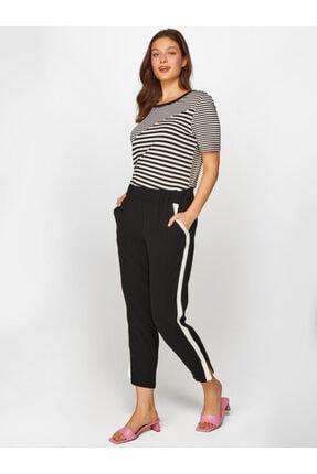 Faik Sönmez Kadın Siyah Comfort Fit Krep Pantolon 60063 U60063