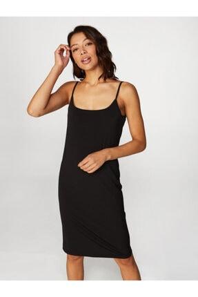 Faik Sönmez Kadın Siyah İp Askılı İç Elbise 60042 U60042