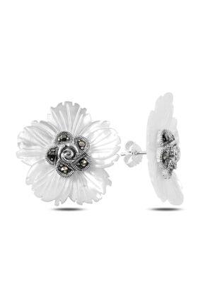 Silverella Gümüş Sedef & Markazit Taşlı Çiçek Küpe
