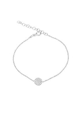 Femmevien 925 Ayar Gümüş Beyaz Taşlı Basic Bileklik