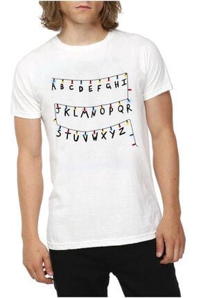 Köstebek Unisex Stranger Things - Alfabe T-shirt