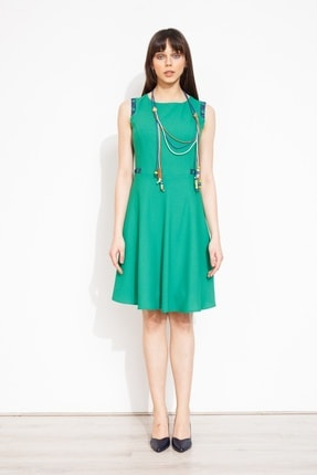 Moda İlgi Kadın Yeşil Elbise