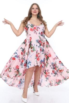ANGELINO Kadın Krinkle Çiçekli Elbise