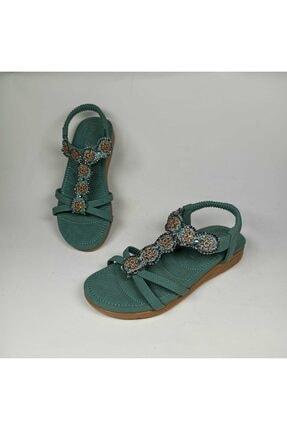 Guja Deriland Yeşil Ortopedik Kadın Sandalet
