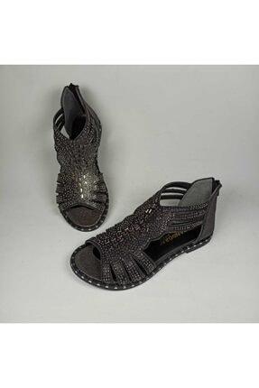 Pandora Deriland Platin Taşlı Günlük Kadın Sandalet
