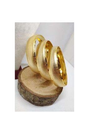 EuroGold Altın Kaplama Bilezik 6.8 cm Bilezik 2 cm Genişlik 055