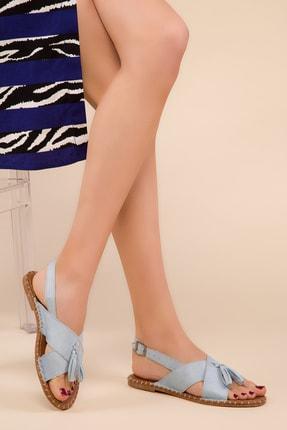 SOHO Mavi Suet Kadın Sandalet 14702