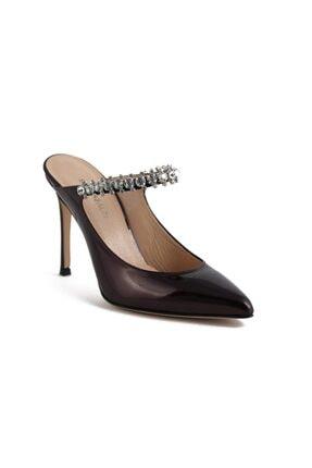 Sofia Baldi Magnolıa Bordo Rugan Taşlı Kadın Stiletto & Abiye Ayakkabı