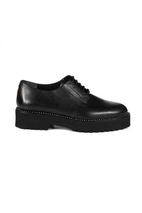 Sofia Baldi Kadın Clio Siyah Deri Bağcıklı Casual Ayakkabı
