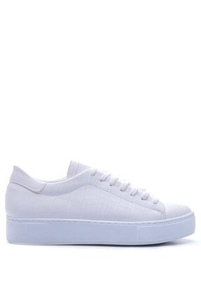 Bulldozer 201973 Beyaz Kroko Kadın Ayakkabı