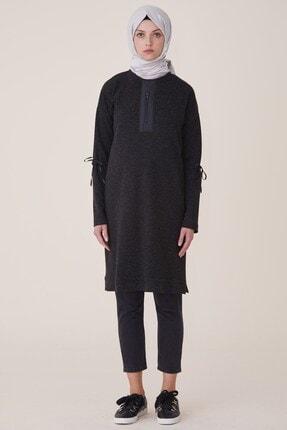 Nihan Fermuar Detaylı Tunik- Siyah 9A4120