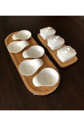Porselen Reçellik Kahvaltılık Tabak Seti 11 Parça CELK056