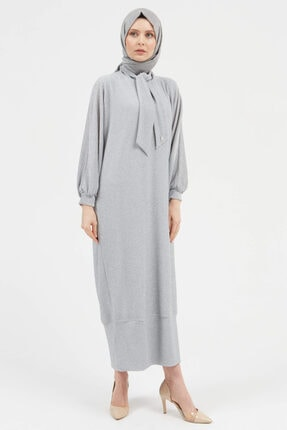 Setrms Simli Fular Yaka Detaylı Elbise