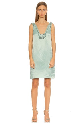 Lanvin Boncuk Detaylı V Yaka Elbise
