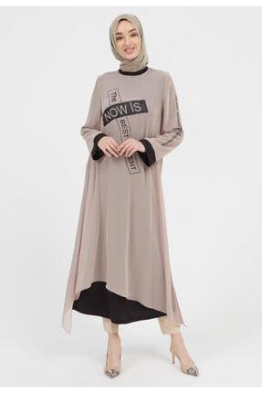Setrms Salaş Yazı Detaylı Şifon Elbise