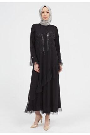 Setrms Tül Taş Detaylı Volanlı Elbise