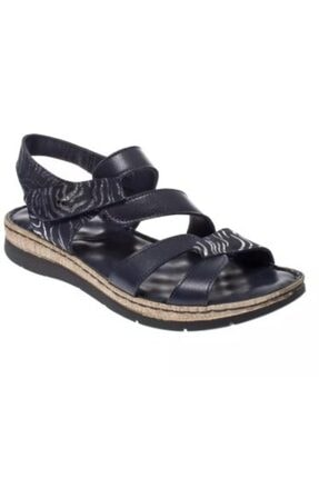 Greyder 53331 Hakiki Deri Lacivert Comfort Anne Ortopedik Kadın Sandalet 40 Numara Afilli Cadde