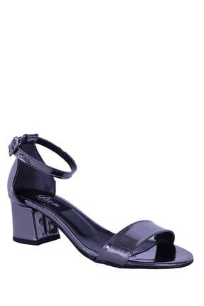 Derigo 19639platin Ayna Kadın Topuklu Sandalet