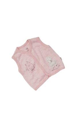 Bebengo Baby 3012 Kız Bebek Kuzu Işlemeli Penye Yelek