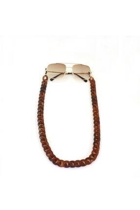 New Obsessions Kahverengi Akrilik Gözlük Zinciri