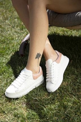 Ayakkabı Modası Beyaz-Pudra Kadın Casual Ayakkabı 5007-20-110001