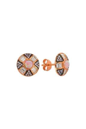 LUZDEMIA G. Opal Küpe 925 - 4 - Rose