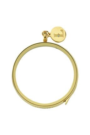 LUZDEMIA Swarovski Zirconia Logo Tag Luzyo 40 mm Gold Magnifying