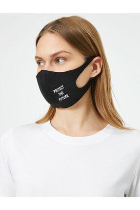 Koton Yazili Baskili Yikanabilir Maske