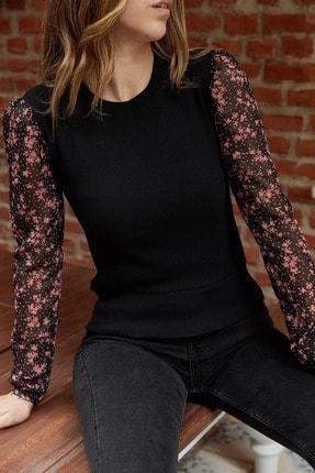 Xhan Kolları Şifon Çiçek Desenli Bluz 9KXK2-42227-02