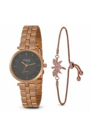 POLO Rucci Kadın Kol Saati Bileklik Hediyeli Pl364