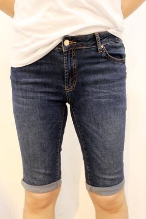 Twister Jeans Kadın Lacivert Capri Likralı Jean Bk 3020-03