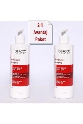 Vichy Dercos Energisant Saç Dökülmesine Karşı Şampuan 400 Ml 2 Li Avantaj Paket