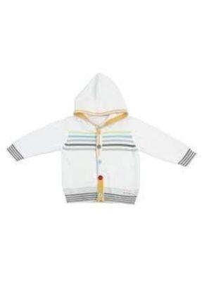Bebepan Unisex Çocuk Beyaz Triko Hırka