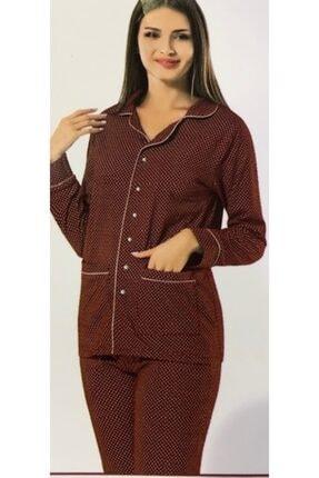 ERDEM Bayan Kışlık Puantiyeli Pijama 8607