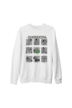 Lord Unisex Beyaz Kalın Sweatshirt
