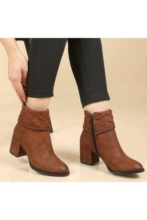 Seçil Kadın Kahverengi Dilimli Topuklu Ayakkabı