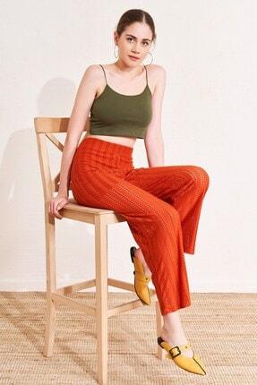 Eka Kadın Brode Detaylı File Pantolon