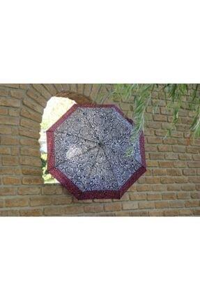 Della Pianto Kadın Kırmızı Desenli Otomatik Şemsiye Dlp07