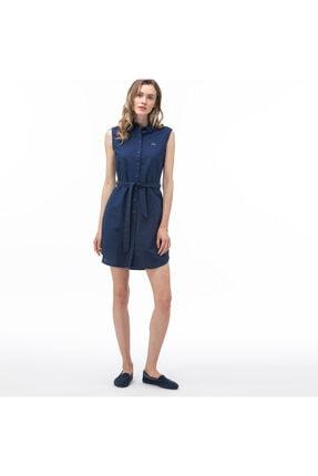 Lacoste Kadın Lacivert Kolsuz Elbise