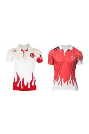 Lotto Unisex Kırmızı Milli Takım Polo Yaka T-Shirt