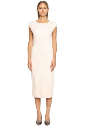 Alexander McQueen Kadın Pembe Triko Elbise