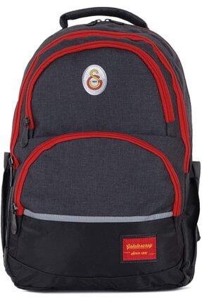 Hakan Çanta Unisex Siyah Renk Kırmızı Fermuarlı Okul Sırt Çantası